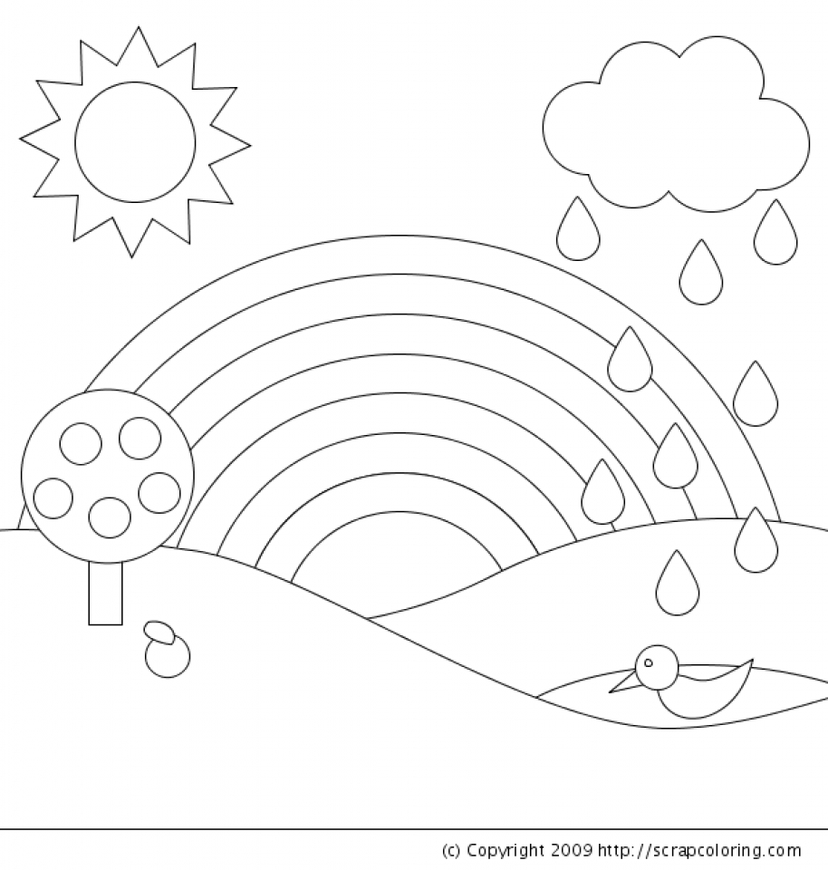 Free Rainbow Coloring Pages to Print   6pyax