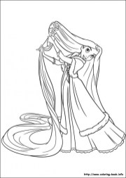 Free Rapunzel Coloring Pages CIVXM