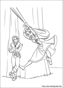 Free Rapunzel Coloring Pages to Print 2L7M1
