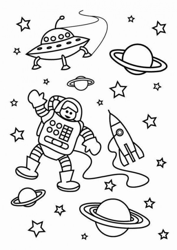space coloring page # 23