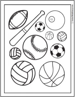 Free Sports Coloring Pages F5W4W