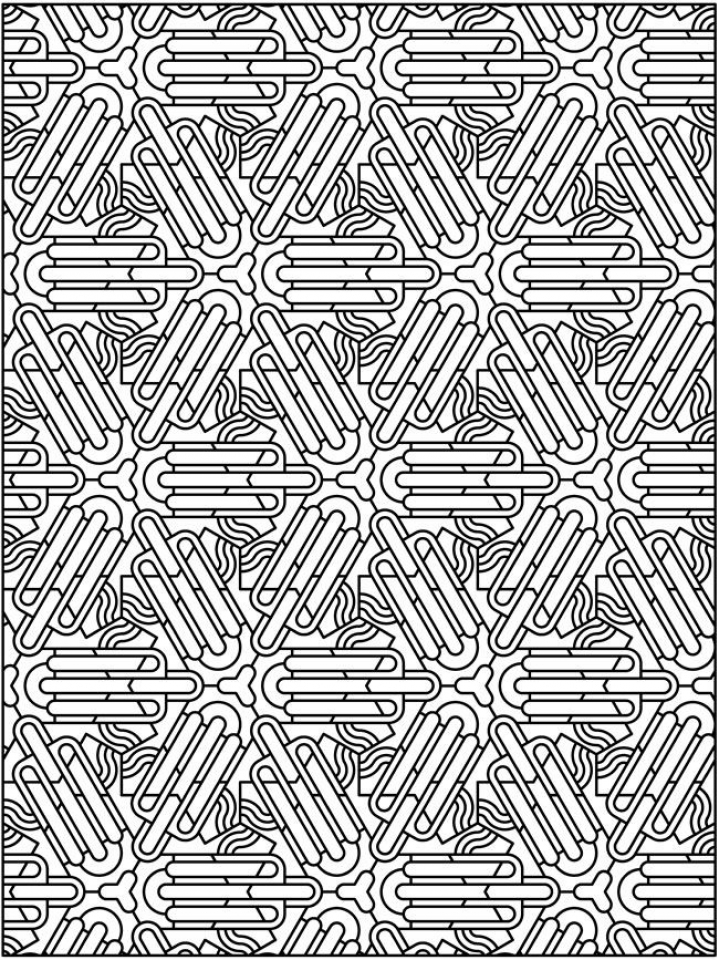 Free Tessellation Coloring Pages Adult Printable   58195