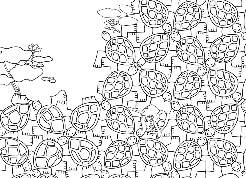 Free Tessellation Coloring Pages for Grown Ups   65291