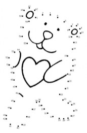 Free Valentine Dot to Dot Coloring Pages N1TDN
