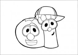 Free Veggie Tales Coloring Pages t29m4