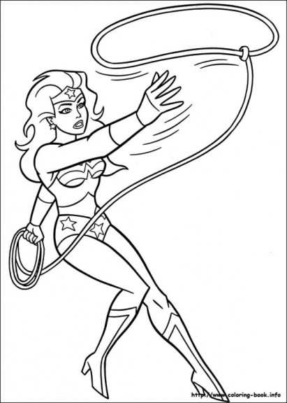 Free Wonder Woman Coloring Pages to Print 590f9