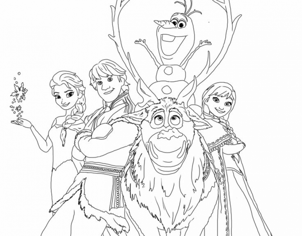 - 20+ Free Printable Disney Frozen Coloring Pages - EverFreeColoring.com