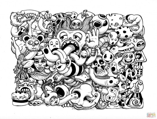 Fun Doodle Art Adult Coloring Pages Printable 12bh9