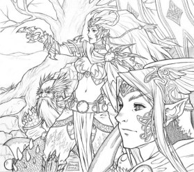 Hard Elf Coloring Pages for Adults 995239