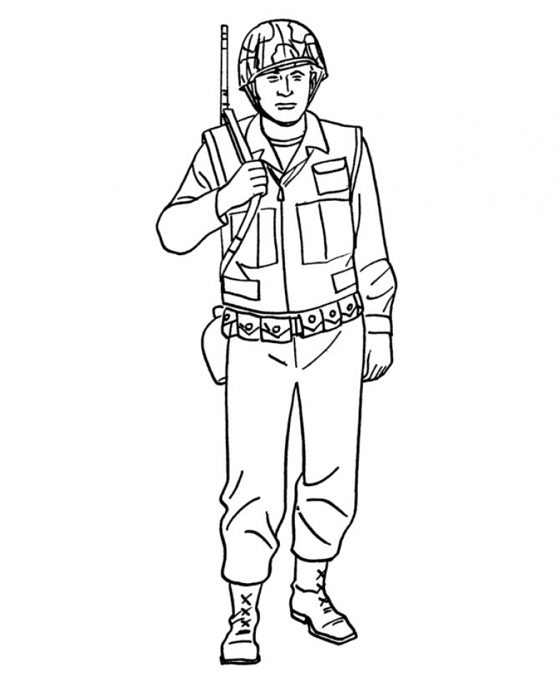 Kids Printable Army Coloring Pages   354fhkj