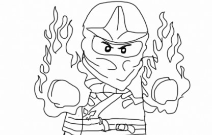 Lego Ninjago Coloring Pages Free Printable 253842