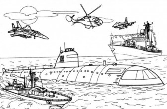 Military Battleship Army Coloring Pages 348ad