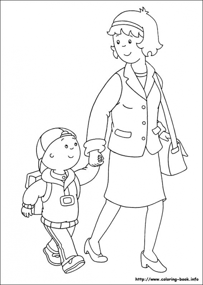 Online Caillou Coloring Pages   6q207