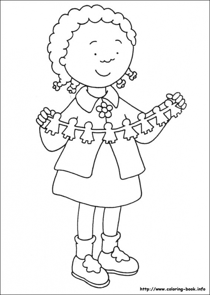 Online Caillou Coloring Pages   gkhlz
