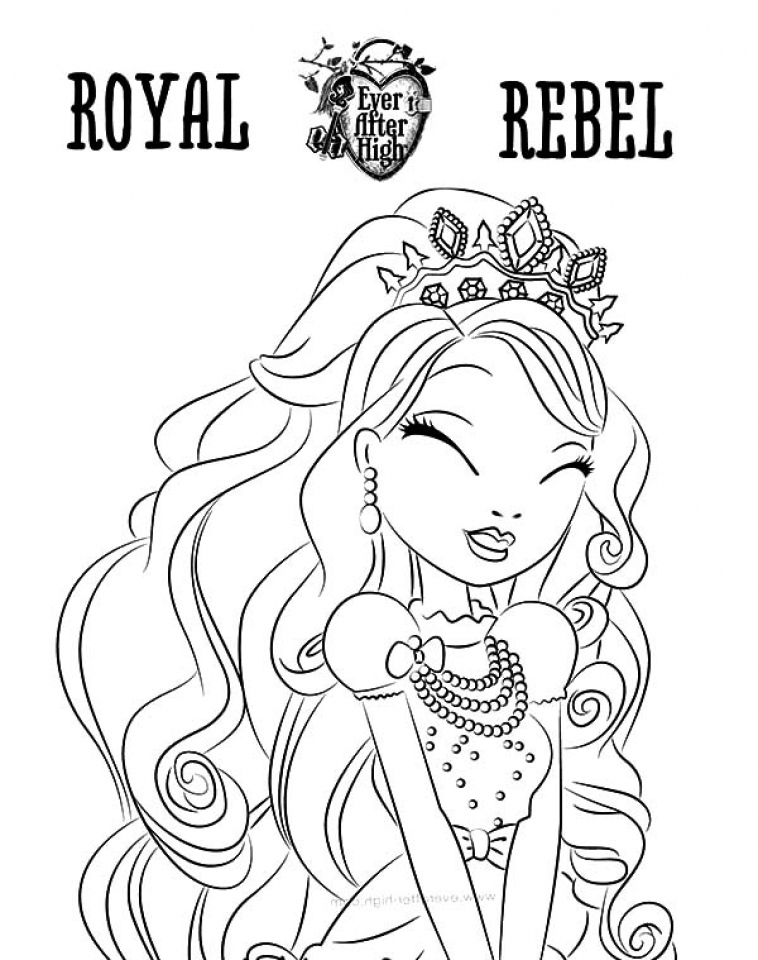 Online Ever After High Coloring Pages   10437