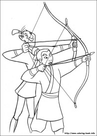 Online Mulan Coloring Pages a9m0j