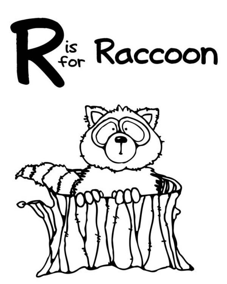 Online Raccoon Coloring Pages   10437