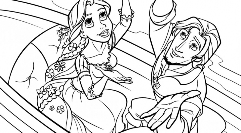 Online Rapunzel Coloring Pages   AS1YC