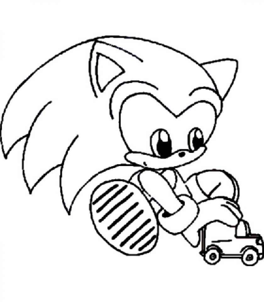 Get This Online Sonic Coloring Pages 289275
