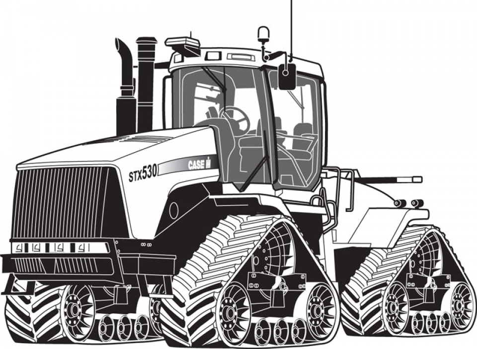 Online Tractor Coloring Pages   10437