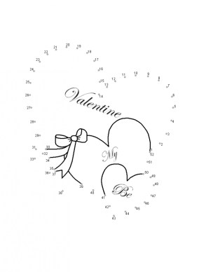 Online Valentine Dot to Dot Coloring Pages LGNK6