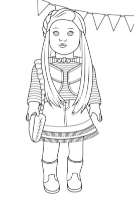 Printable American Girl Coloring Pages Online mnbb19