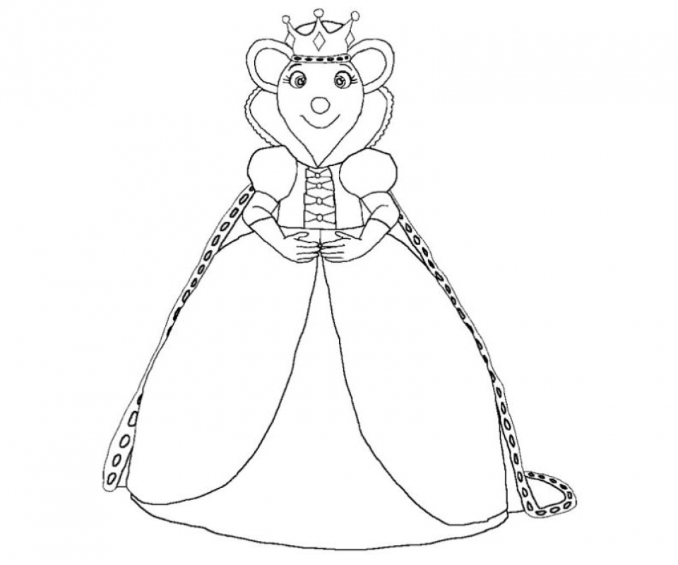 Printable Angelina Ballerina Coloring Pages   662628