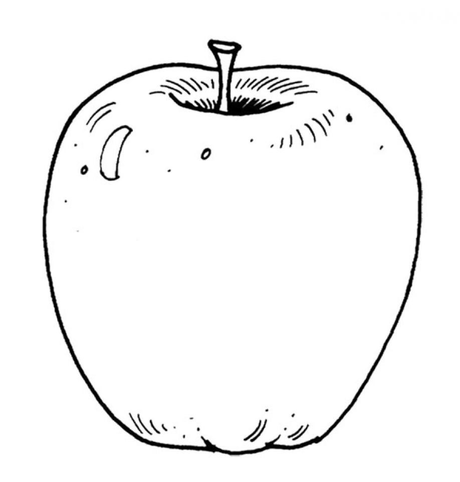 Printable Apple Coloring Pages Online   mnbb17