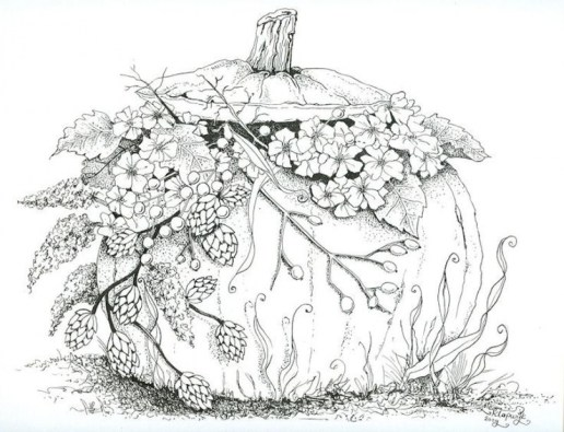 Printable Autumn Coloring Pages for Adults gt34c
