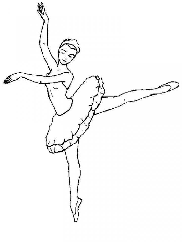 Printable Ballerina Coloring Pages Online   2x539