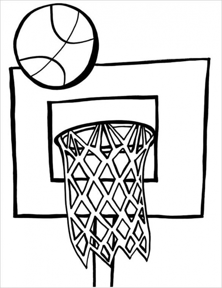 Printable Basketball Coloring Pages Online   387833