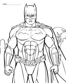 Printable Batman Coloring Pages Online 638591