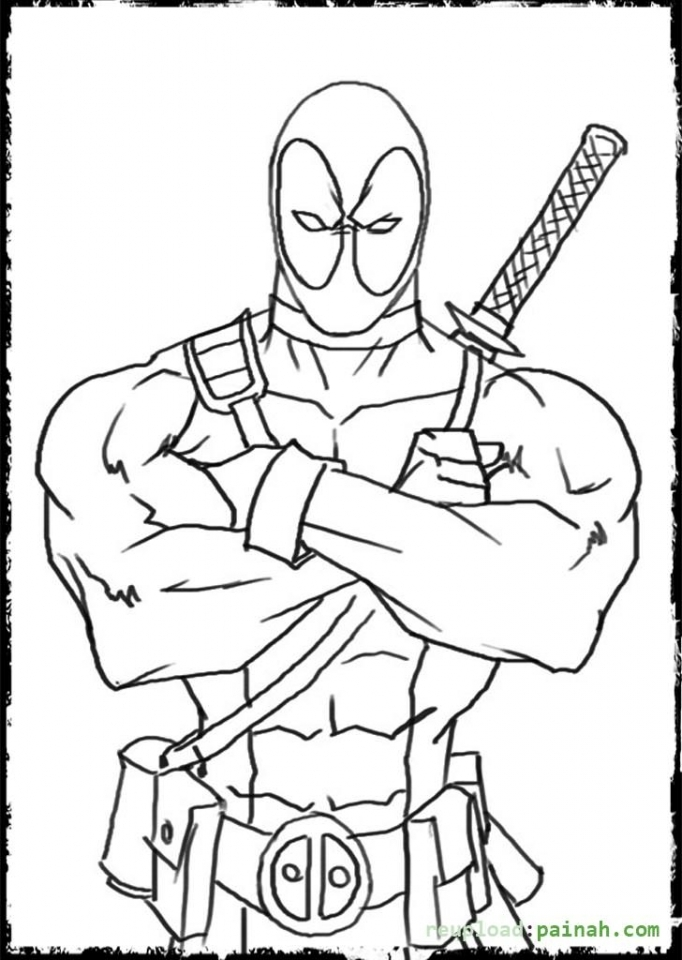 Printable Deadpool Coloring Pages Online   638583