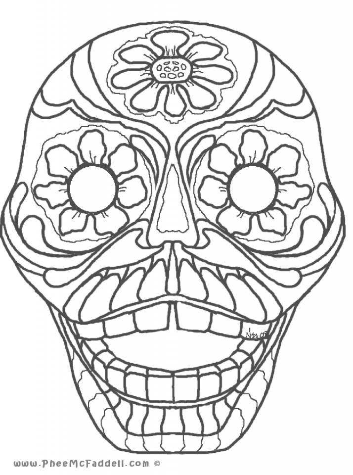 Printable Dia De Los Muertos Coloring Pages Online   2x535