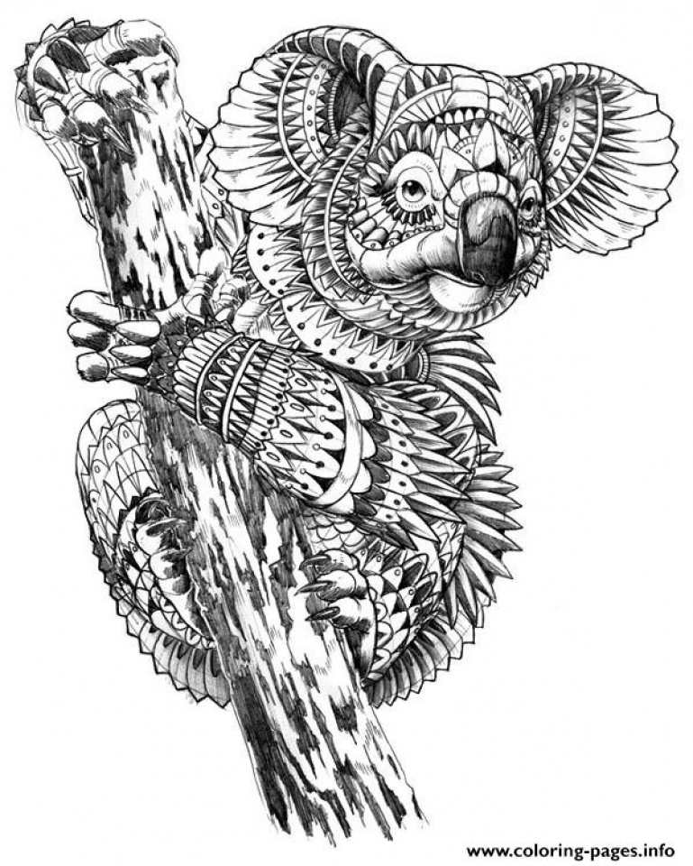 Printable Animal Coloring Pages For Adults Www.robertdee.org