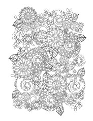 Printable Doodle Art Coloring Pages for Grown Ups 53XR2