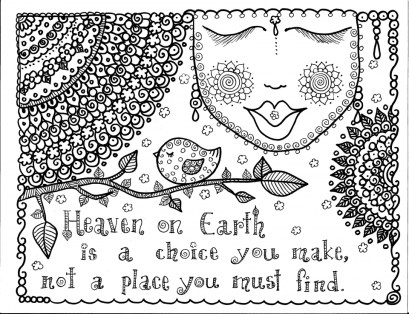 Printable Doodle Art Coloring Pages for Grown Ups 6RZW0