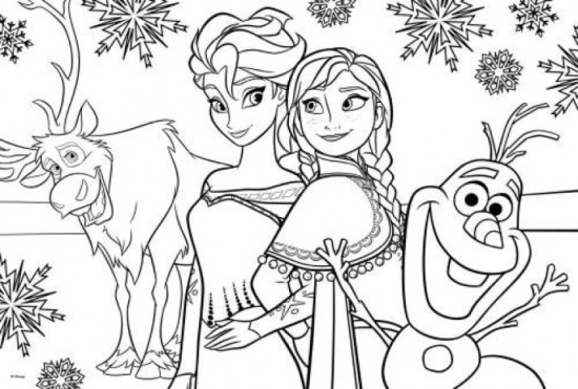 Printable Frozen Coloring Pages Online 638595