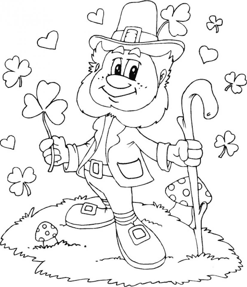 Printable Leprechaun Coloring Pages Online   2x537