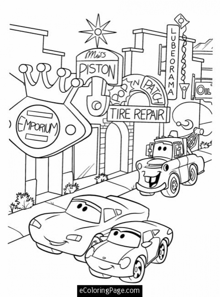 Printable Lightning McQueen Coloring Pages   673364