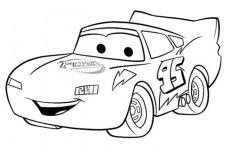 Printable Lightning McQueen Coloring Pages Online 106089
