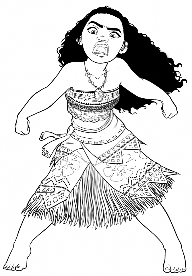 Printable Moana Coloring Pages Online   NJ51I