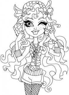 Printable Monster High Coloring Pages 662640