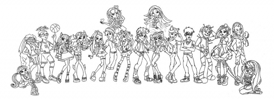 Get This Printable Monster High Coloring Pages 673368 !