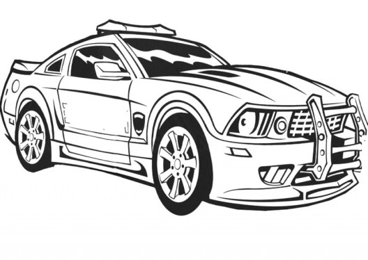 Printable Police Car Coloring Pages 00467