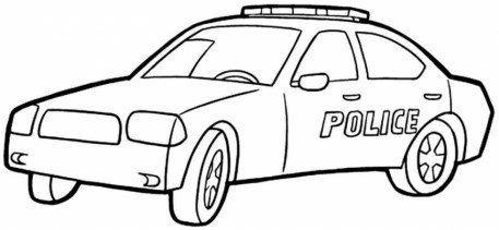 Printable Police Car Coloring Pages Online 90455