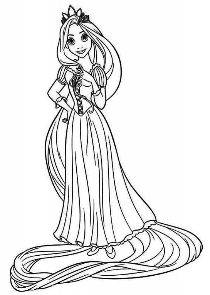 Get This Printable Rapunzel Coloring Pages D4VIF