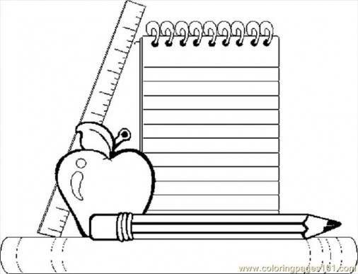 Printable School Coloring Pages Online mnbb20