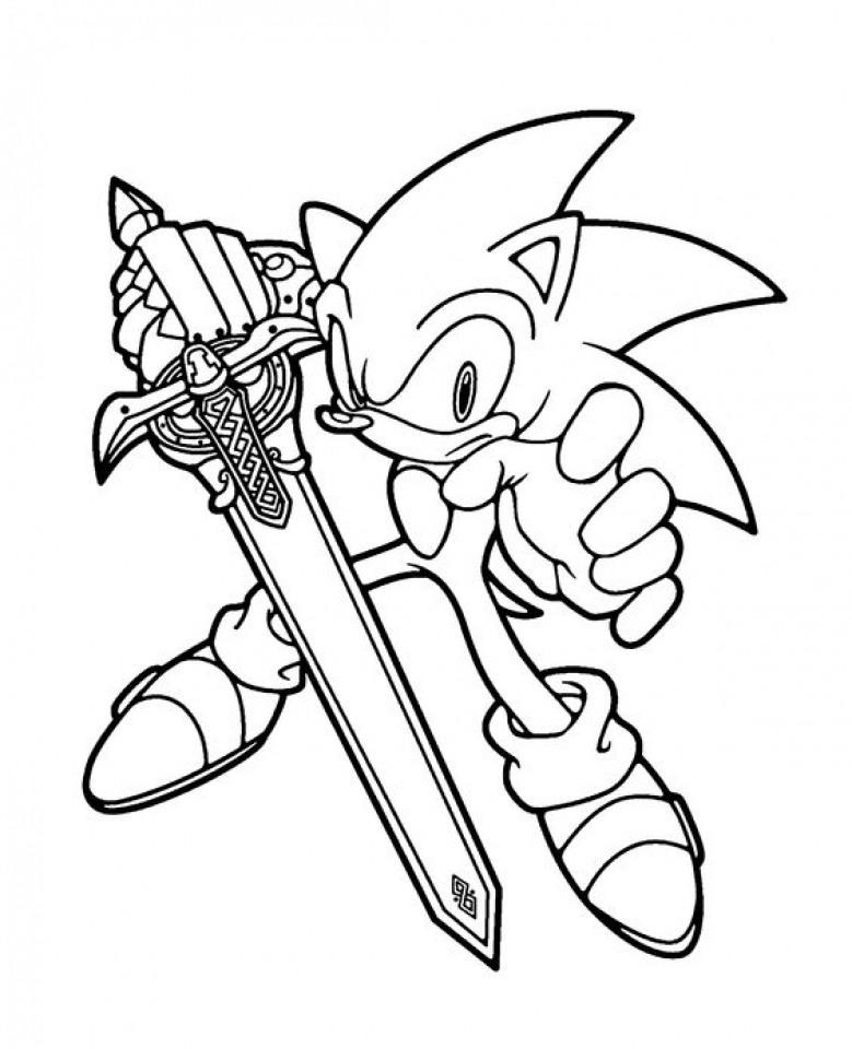 Get This Printable Sonic Coloring Pages Online 711864 !
