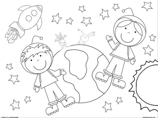 Printable Space Coloring Pages Online mnbb18